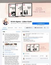 facebook Seite von Kristin
