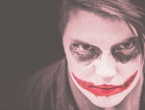 Joker-Gesicht Clown - Nichts ist sicher